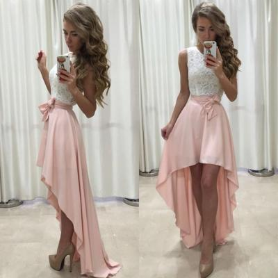 Hot-Selling A-Line High-Low Pink Long Prom/Party Dress