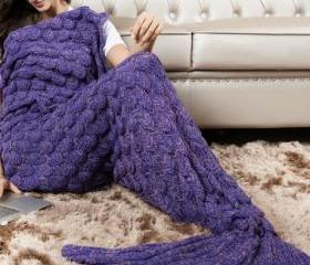 Knitted Purple Merma..