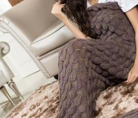 Knitted Brown Mermai..