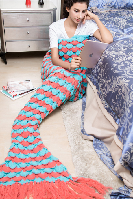 Mermaid Blanket Crochet Blanket Mermaid Tail Blanket Sofa Blanket