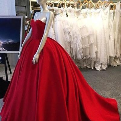 New Arrival Sweetheart Ball Gown Red Long Prom/Evening Dress
